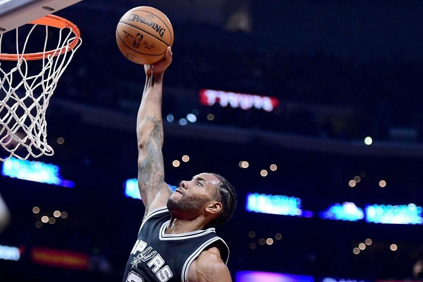 San Antonio Spurs' Kawhi Leonard poured in 31 points in just three quarters during their game against Los Angeles Lakers.