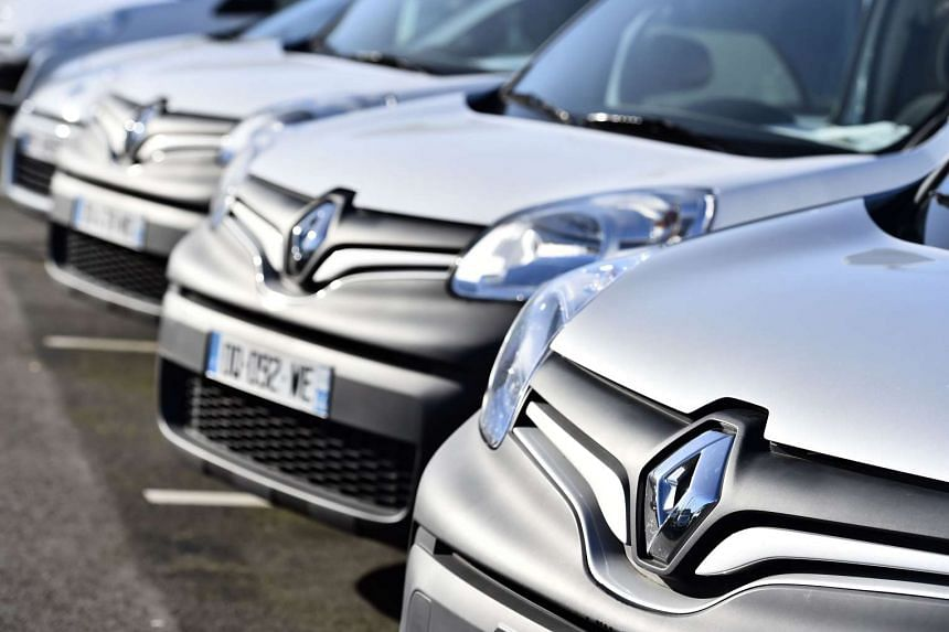 This file photo taken on Jan 15, 2016 shows the logo of carmaker Renault on its cars, in Saint-Herblain, western France.