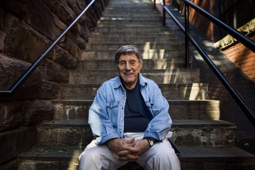 A 2013 file photo shows Blatty on the so-called Exorcist Steps in the Georgetown neighborhood of Washington, DC.