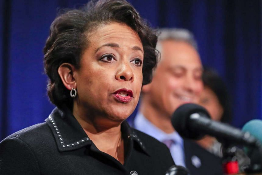 US Attorney General Loretta Lynch speaks at a news conference discussing findings of a Justice Department investigation into the Chicago Police Department at the Dirksen Federal Building in Chicago, Illinois, USA, on Jan 13, 2017.