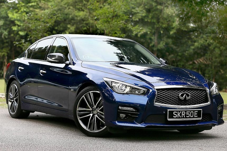 The Infiniti Q50 Red Sport is powered by a new 3-litre turbocharged V6.