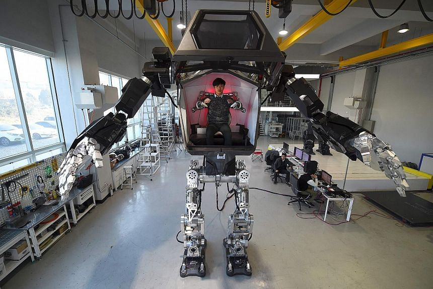 A 4m-tall robot being tested in a Hankook Mirae Technology lab in South Korea last month. Socialist MEP Mady Delvaux warns that Europe is standing by passively as robots take an increasingly powerful role.
