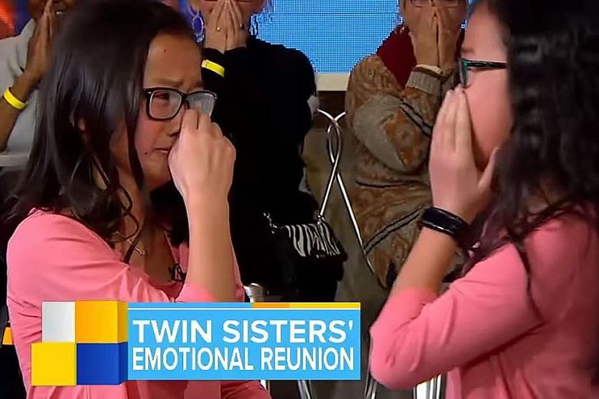 Identical twins Audrey and Gracie were separated as infants after being adopted by two different families in the US.