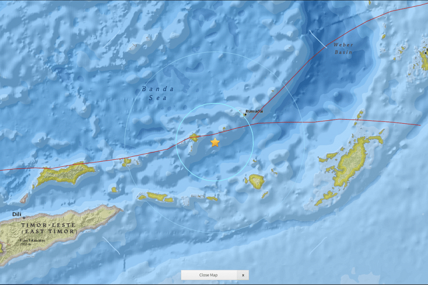 An earthquake with a magnitude of 5.6 struck off Indonesia's Maluku archipelago on Saturday (Jan 14), the United States Geological Survey (USGS) said.