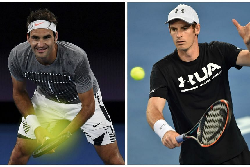 Roger Federer (left) could play Andy Murray as early as the quarter-finals of the Australian Open.