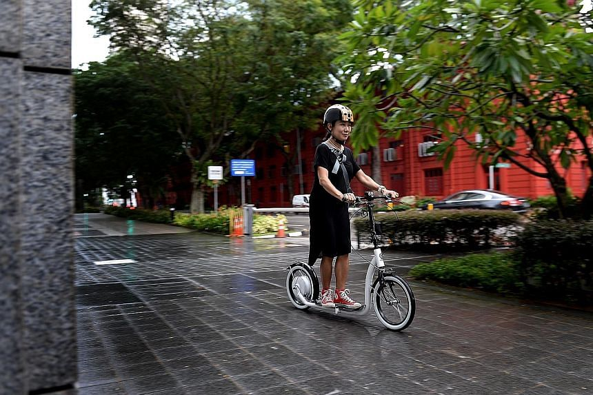 Dr Hee recently started using her e-scooter for the 9km-long commute from her home to her office.