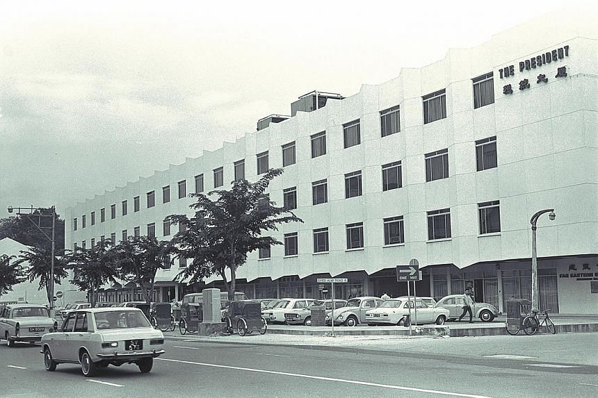 The easy navigation of Mustafa's more spacious Serangoon Plaza branch will be missed by some of its customers. Serangoon Plaza was first built in the 1960s as President Shopping Centre (above) before being bought by Feature Development in 1984. Shelv