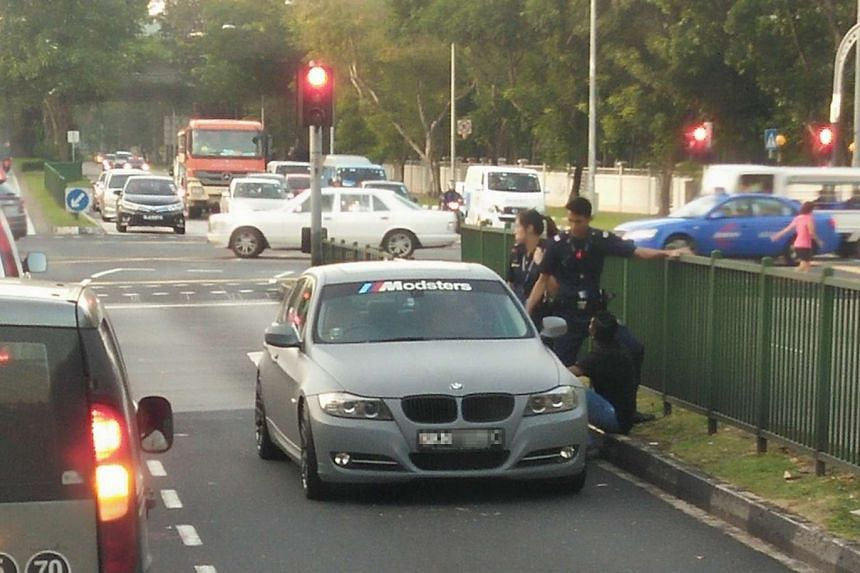 Another car was caught driving against traffic at Woodlands Avenue 1 and Woodlands Avenue 2 on Jan 14, 2017.