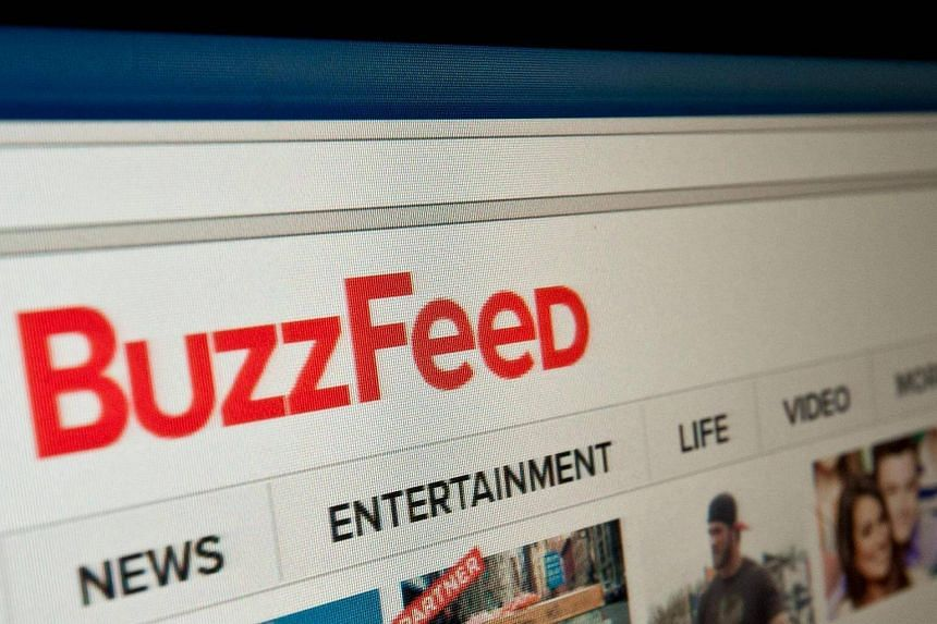 """Mr Donald Trump said: """"As far as BuzzFeed, which is a failing pile of garbage, writing it, I think they're going to suffer the consequences. They already are."""""""