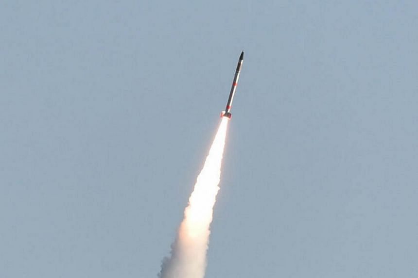 The world's smallest rocket SS-520 carrying a mini satellite for observation of the Earth's surface is launched from the Japan Aerospace Exploration Agency Uchinoura Space Center in Kagoshima Prefecture, southwestern Japan, on Jan 15, 2017.