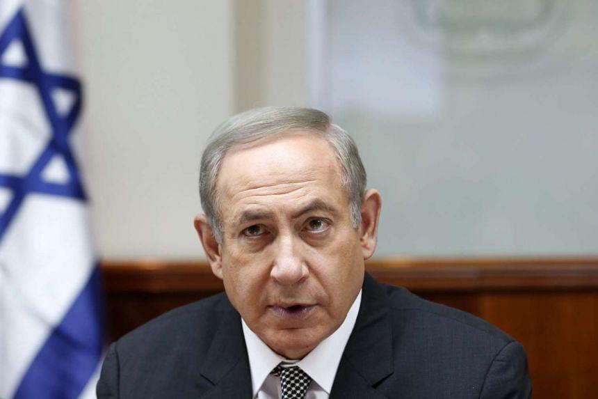 Israeli Prime Minister Benjamin Netanyahu attending the weekly cabinet meeting in Jerusalem, on Jan 15, 2017.