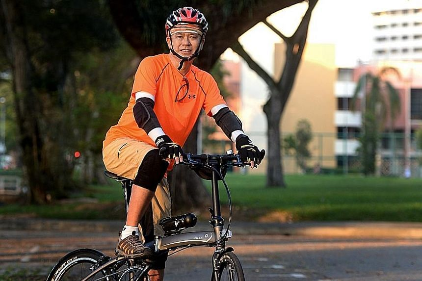 Mr Han feels his love for cycling and the outdoors started during his formative kampung days in Pulau Bukom. He is one of 14 members of the Active Mobility Advisory Panel, whose recommendations were incorporated in a Bill that was passed in Parliamen