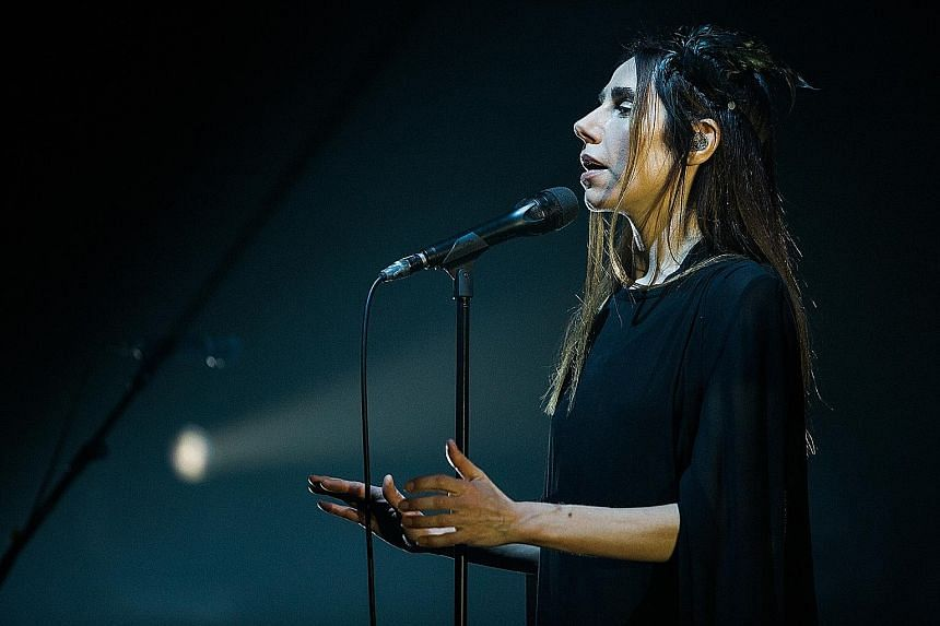PJ Harvey performed a setlist comprising mostly songs from last year's richly textured album, The Hope Six Demolition Project.