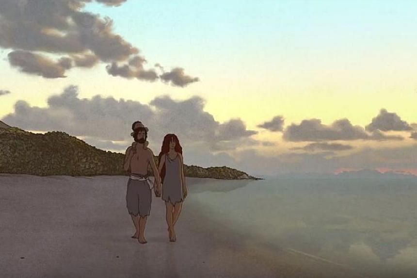 A scene from The Red Turtle, a Studio Ghibli film by Dutch director Michael Dudok de Wit.