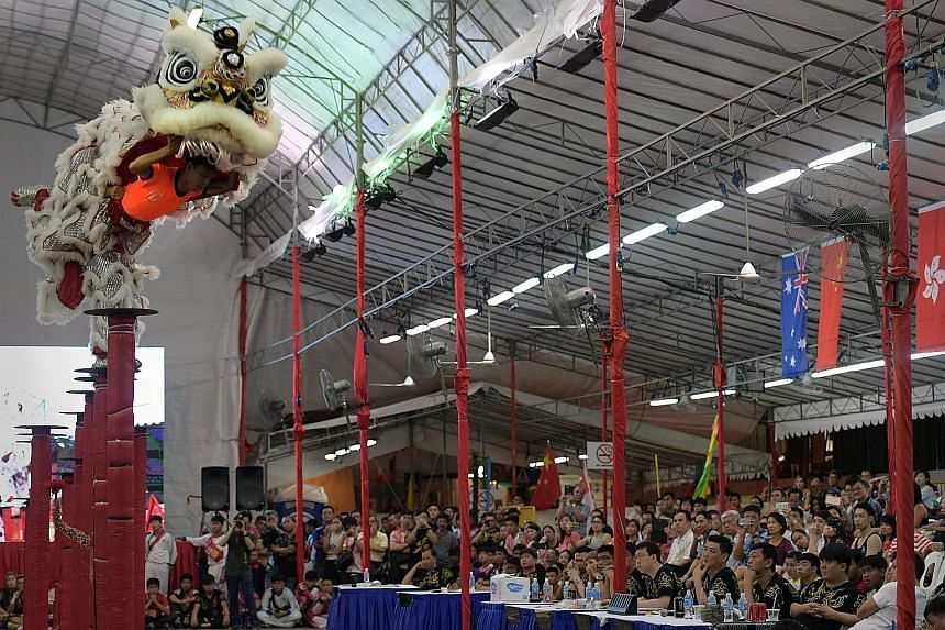 The Jing Ying Tang Dragon & Lion Dance Troupe from Vietnam took home the top prize of $5,000.