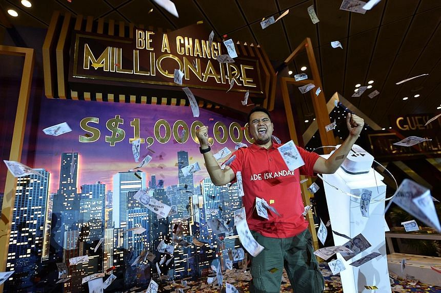 On his maiden trip to Singapore last October, Mr Ade Iskandar Roni bought a $51 Adidas T-shirt as a present for his friend. The purchase, which is just $1 above the $50 qualification amount, has helped him win $1 million. Mr Ade, from South Jakarta,
