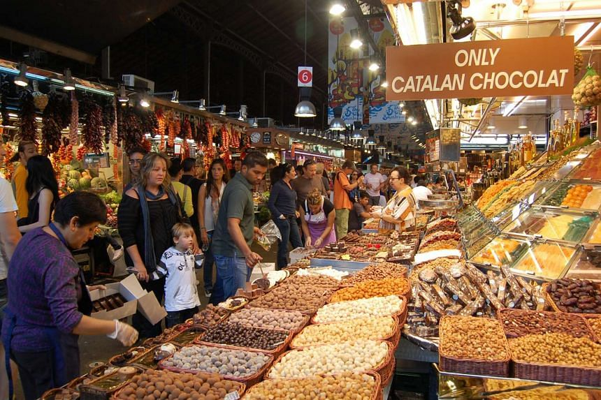 A market in Barcelona.