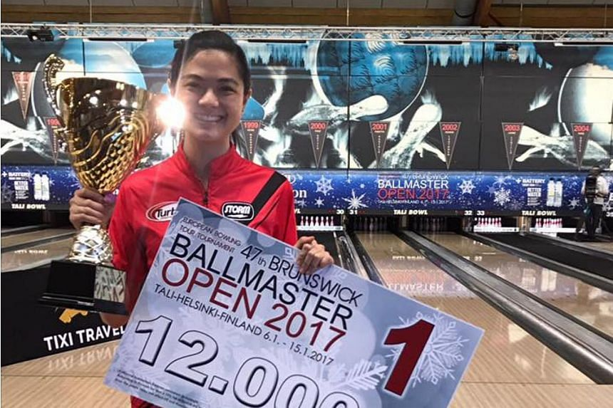Singapore bowler Daphne Tan took her first professional title early Monday (Jan 16) morning (Singapore time), winning the Brunswick Ballmaster Open in Helsinki.