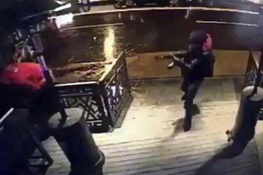A video capture of the gunman entering the Reina nightclub, a popular night club in Istanbul near by the Bosphorus, in Istanbul, Turkey, early Jan 1, 2017.