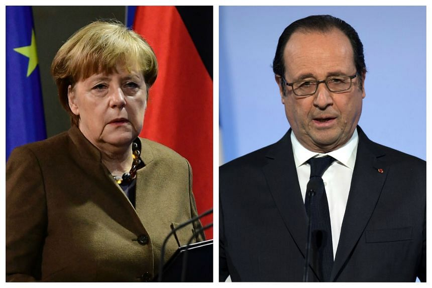 German Chancellor Angela Merkel and French President Francois Hollande have both criticised US President-elect Donald Trump for his comment about Nato.