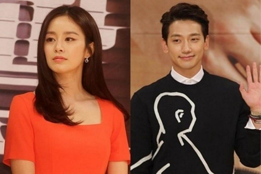 Rain (right) announced via a handwritten letter that he will be marrying K-drama star Kim Tae Hee.