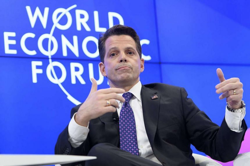 Anthony Scaramucci, executive member of US President-Elect Trump's Transition Team speaks during a panel session on the first day of the 47th annual meeting of the World Economic Forum, WEF, in Davos, Switzerland, on Jan 17, 2017.