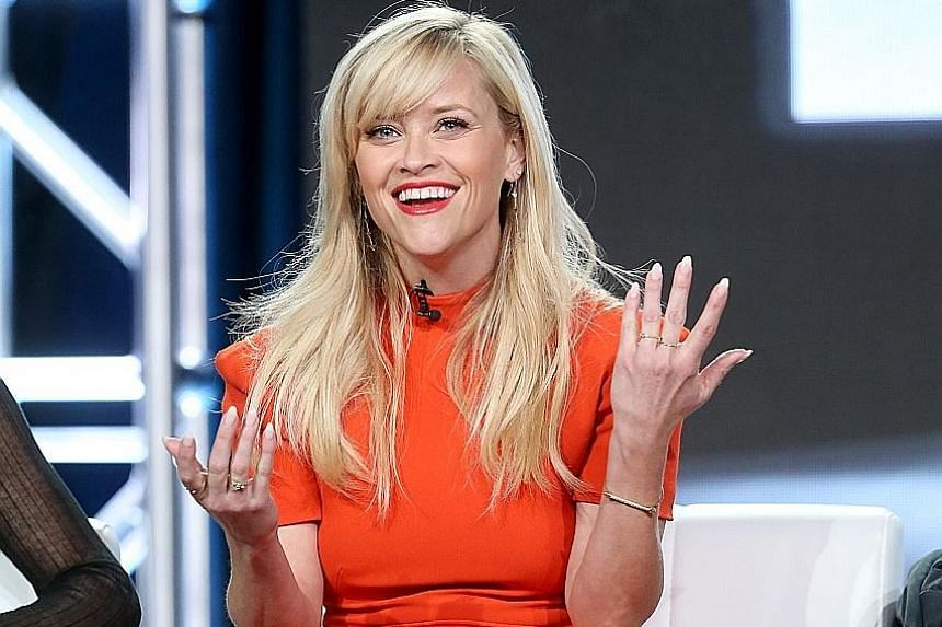 Producer- actress Reese Witherspoon (above) of the HBO series, Big Little Lies, at a press event in Pasadena, California, last Saturday.