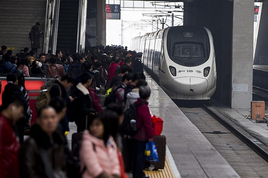 Trains are a popular travel option because services are reliable and affordable. China's push to create a high-speed railway network has also made it easier for the huge number of people who make trips during the Chinese New Year period.