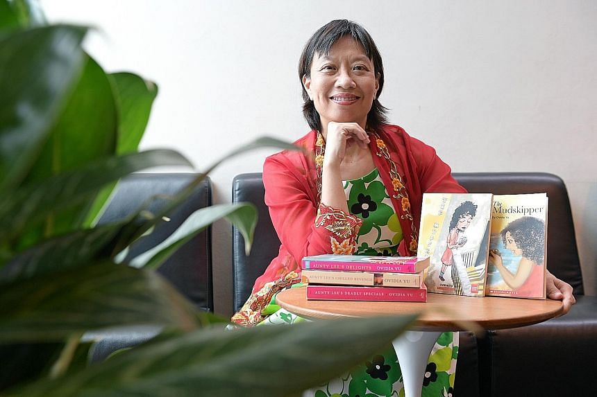 Playwright and novelist Ovidia Yu's new detective novel, The Frangipani Tree Mystery, is being published in Britain in June.