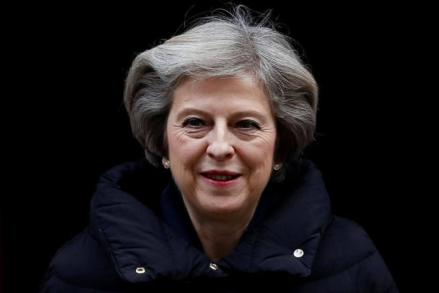 Britain's Prime Minister Theresa May leaving Downing Street in London, Britain, on Jan 11, 2017.