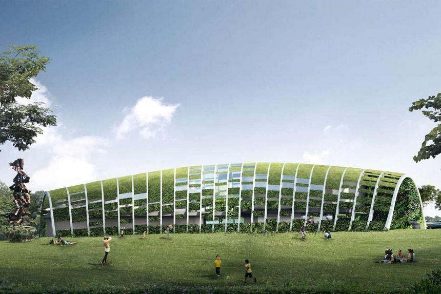 Artist impression of the upcoming Skool4Kidz large childcare centre in Sengkang Riverside Park, to open in mid-2018.