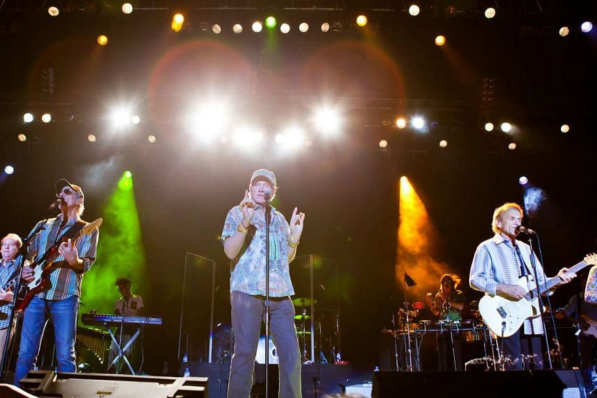 The Beach Boys performing at the Singapore Indoor Stadium on Aug 22, 2012.