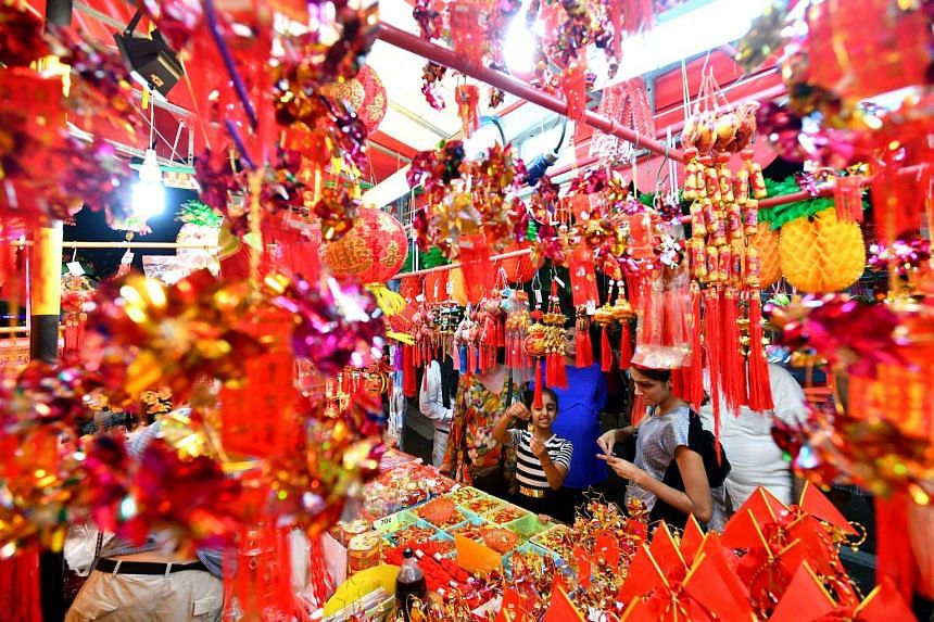 The Festive Street Bazaar and Carnival, part of Chinatown Chinese New Year Celebrations 2017, is seen on Jan 7, 2017.