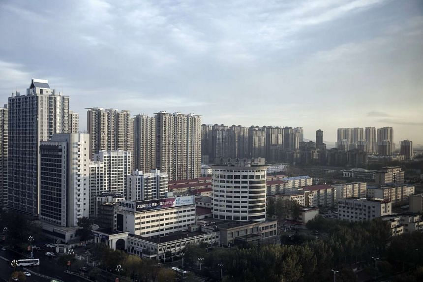 Residential buildings stand in Qinhuangdao, Hebei province, China, on Oct 28, 2016.