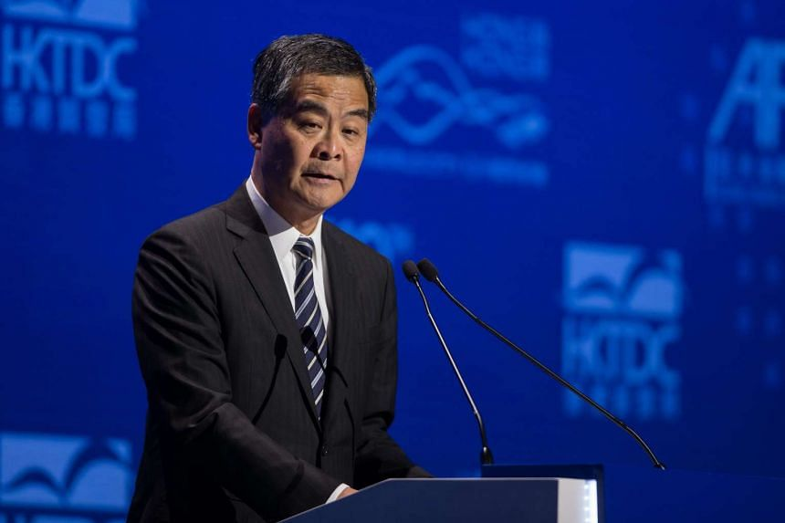 Hong Kong's Chief Executive Leung Chun Ying speaks at the Asian Financial Forum in Hong Kong, China on Jan 16,  2017.