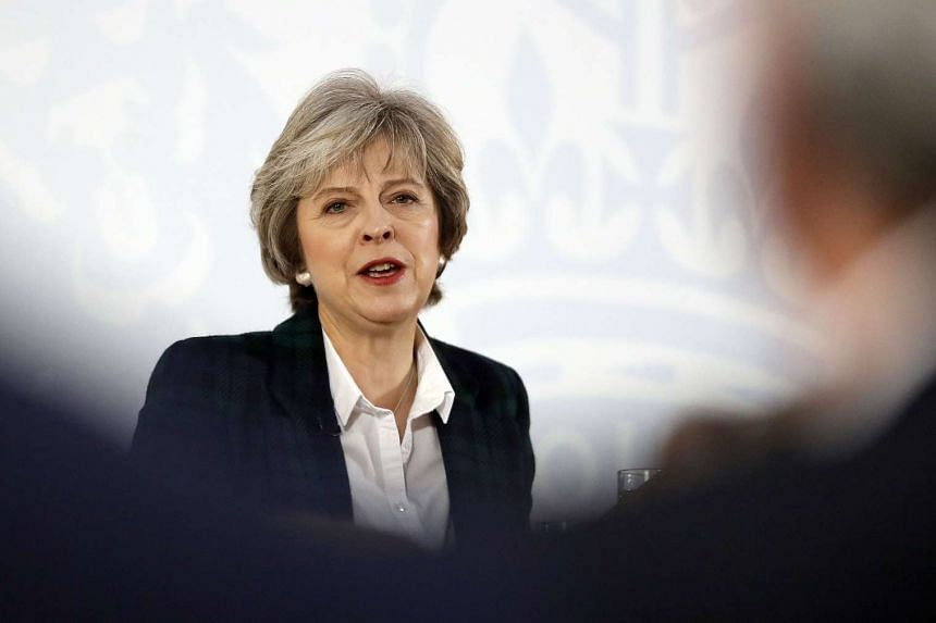 British Prime Minister Theresa May delivers a speech on the government's plans for Brexit at Lancaster House in London on Jan 17, 2017.