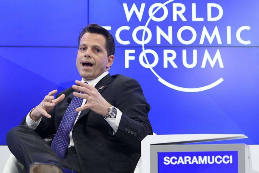 Anthony Scaramucci, Executive Member of US President-Elect Trump's Transition Team speaking during a panel session on the first day of the 47th annual meeting of the World Economic Forum in Davos, Switzerland, on Jan 17, 2017.