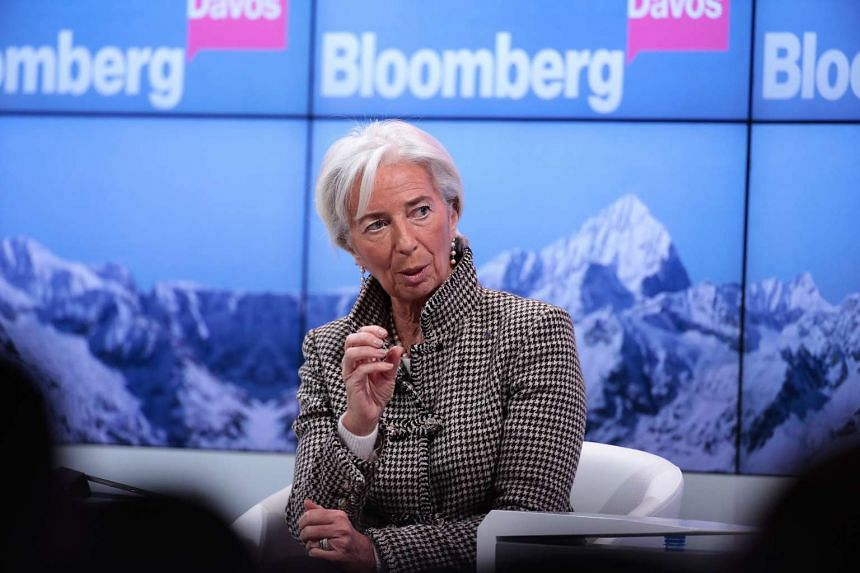 Christine Lagarde, managing director of the International Monetary Fund (IMF), speaks during a panel session at the World Economic Forum on Jan 18, 2017.