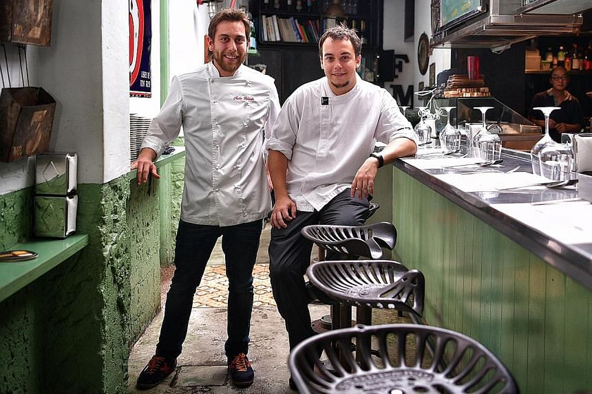 Chef Nacho Baucells (left) of the acclaimed El Celler de Can Roca will be collaborating with Esquina's chef Carlos Montobbio (right) for a two-night- only dinner at Esquina.