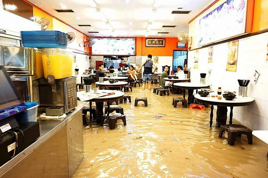 Ming Fa Fishball was one of the businesses affected in the Upper Thomson Road flash flood on Christmas Eve. Japanese firm Sato Kogyo, responsible for building the Upper Thomson MRT station, was found to have carried out unauthorised works that affect