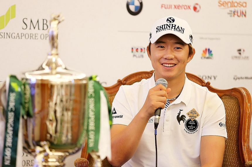 Song Young Han had edged out Jordan Spieth to win last year's Singapore Open, but has yet to win another title.