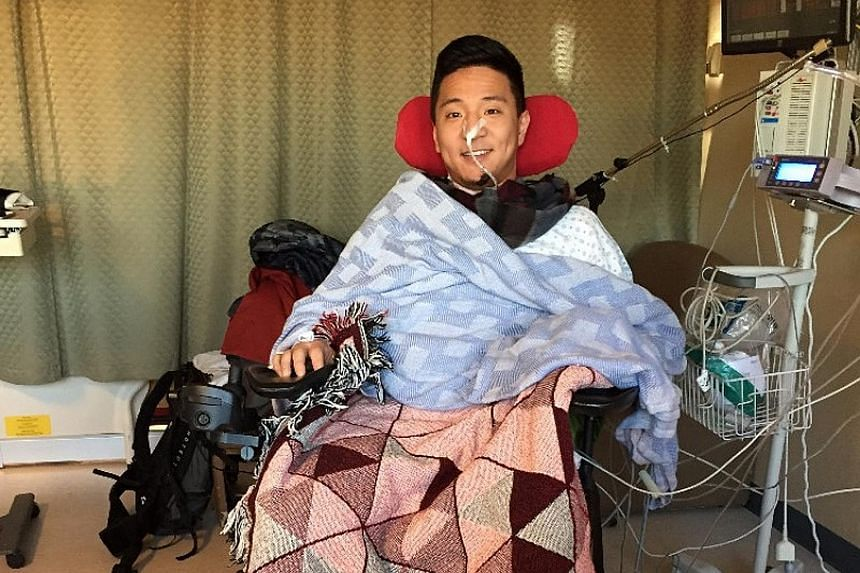 Mr Cho, a 29-year-old former professional mountain biker, collapsed on his doorstep after a burst blood vessel paralysed him from the neck down. He dragged himself to his phone with his chin and used his tongue to activate his iPhone's Siri voice com