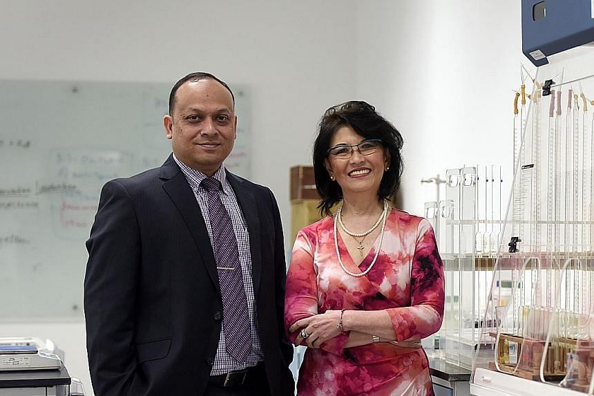 Mr Dereinda and Ms Yeo at the SSTC Institute's premises in Kitchener Road. The school was founded in 1978 and was a pioneer in offering commercial and secretarial skills. Today, its O- and A-Level preparatory and English programmes are highly sought-