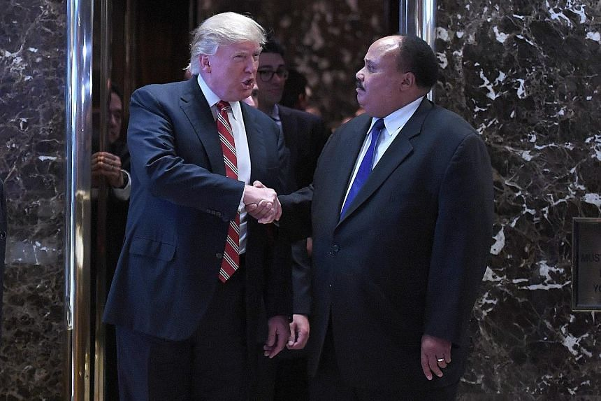 Mr Trump met Mr Martin Luther King III amid a row with lawmaker and revered civil rights leader John Lewis.