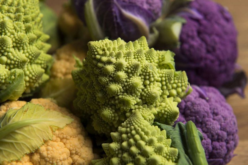 Romanesco broccoli, those curious-looking bright chartreuse spiky specimens, can be cooked like regular cruciferous vegetables.
