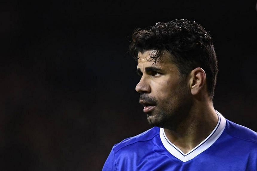 Chelsea's Diego Costa reacts during their English Premier League football match between Tottenham Hotspur.
