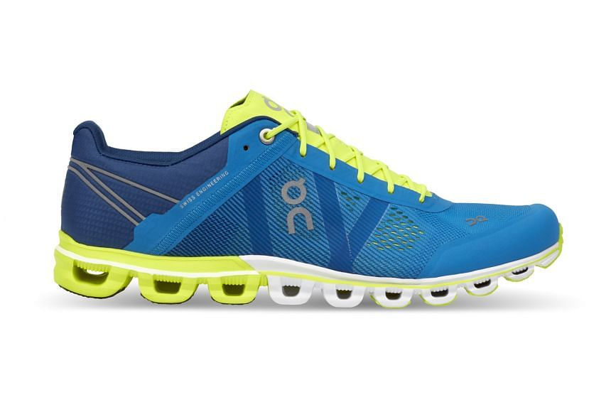 The Cloud cushions on an ON running shoe compress on impact for cushioning but expand during lift-off for energy return.