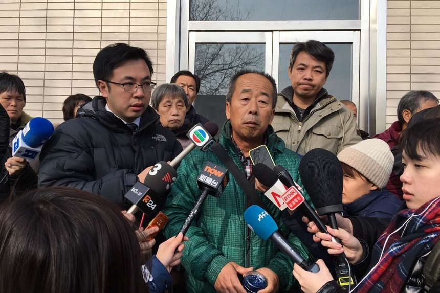 Mr Li Eryou, a farmer from Hebei, speaking to the media to protest the suspension of the search for the ill-fated Flight MH370. His son was on board the plane when it went missing.