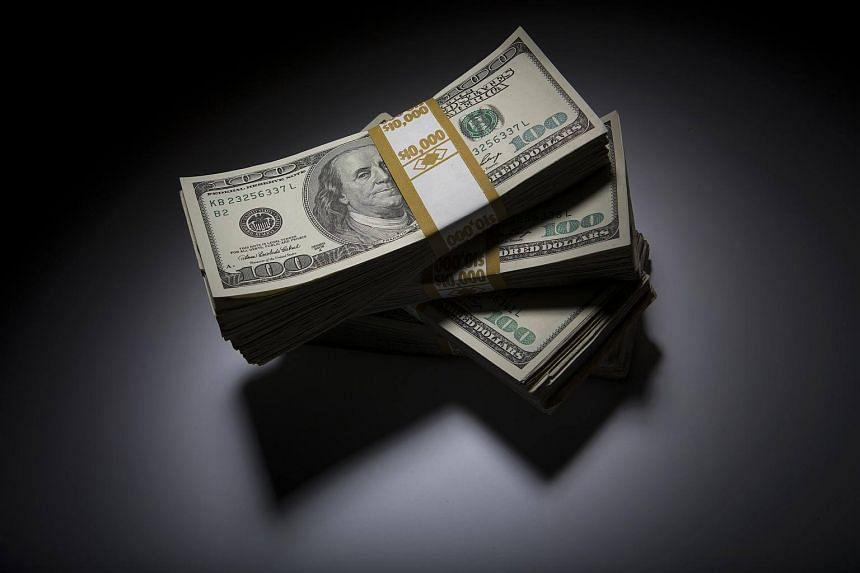 Stacks of US $100 bills.