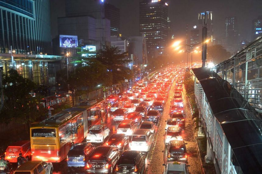 Jakarta has some of the world's worst jams, with hordes of new vehicles hitting the roads every day and little in the way of public transport beyond pollution-belching, ageing buses.